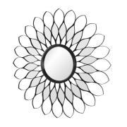 Flower Spejl Ø80 - Sort