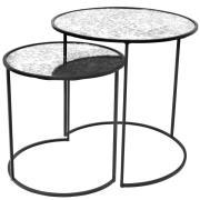 Stends Sidebord s/2 - Jern/Glas
