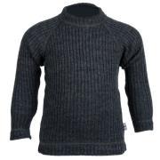 Sweater fra Joha - Uld rib - Soft Wool - Koksgrå
