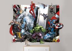 Avengers 3D Vægdekoration - Wallstickers / Tapet