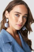 NA-KD Accessories Stone Look Earrings - Grey