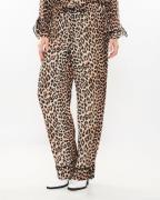 Ganni Pants Printed Georgette Leopard