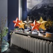 Stella bordlampe i stjerneform, højde 27 cm, guld