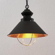 Aloisia hængelampe med bur, sort-guld