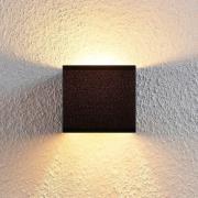 Adea væglampe i stof med afbryder, 13 cm, sort