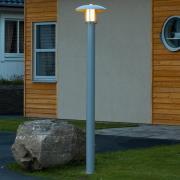 Sølvlakeret lygtepæl Heimdal - saltvandsresistent