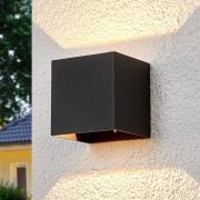 Kantet LED-udendørsvæglampe Evie