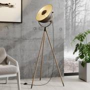 Lindby Scharlie standerlampe med metalskærm