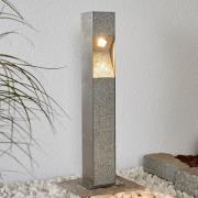 LED-pullertlampe Amelia med granit, 60 cm