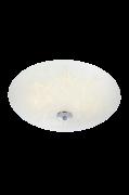 FLEUR Plafond LED hvid/krom, 43 cm