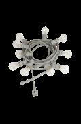 Lyskæde Bright light string med klare pærer, 7 m