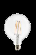 Pære E27 LED 3-trins dæmpbar Globe 125 mm Klar 0,4-7 W