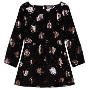 Kenzo Black and Rose Gold Cosmic Dress 3 years