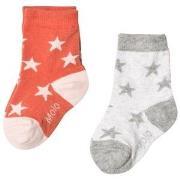 Molo Nesi 2-Pack Socks Light Grey Melange 17-19 (6-9 mdr)