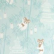 Majvillan Bambu Wallpaper Turquoise One Size