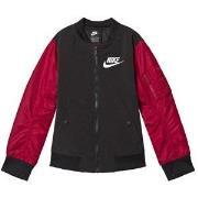 NIKE Black and Red Varsity Jacket XS (6-8 years)
