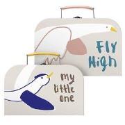 sebra 2-Pack Nesting Suitcases Singing Birds One Size