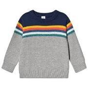 GAP Stripe Sweater Grey/Navy 12-18 mdr