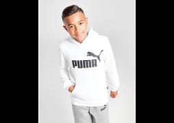 Puma     Core Logo Hoodie Junior - White - Kids
