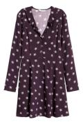 H & M - Mønstret kjole - Lilla