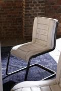 BODAHL Franco spisebordsstol -bøffellæder og stål, ...