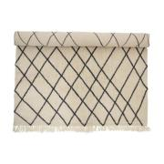BLOOMINGVILLE gulvtæppe - natur uld/bomuld, rektangulær (3...