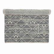 BLOOMINGVILLE gulvtæppe - grå uld, rektangulær (180x...