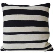 Mimou-Roppongi Cushion 50x50 cm, Black/Natural white