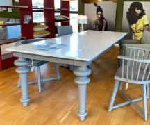 Gervasoni Gray 33 Spisebord - Grå Med Hvid Marmor - DEMO.