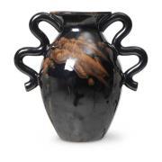 Verso vase 27 cm Black/Brown